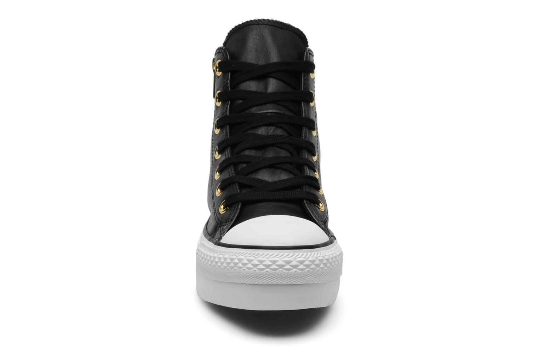 Chuck Taylor All Star Fashion Leather Platform Hi W  Noir