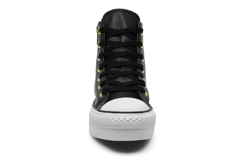 Trainers Converse Chuck Taylor All Star Fashion Leather Platform Hi W Black model view