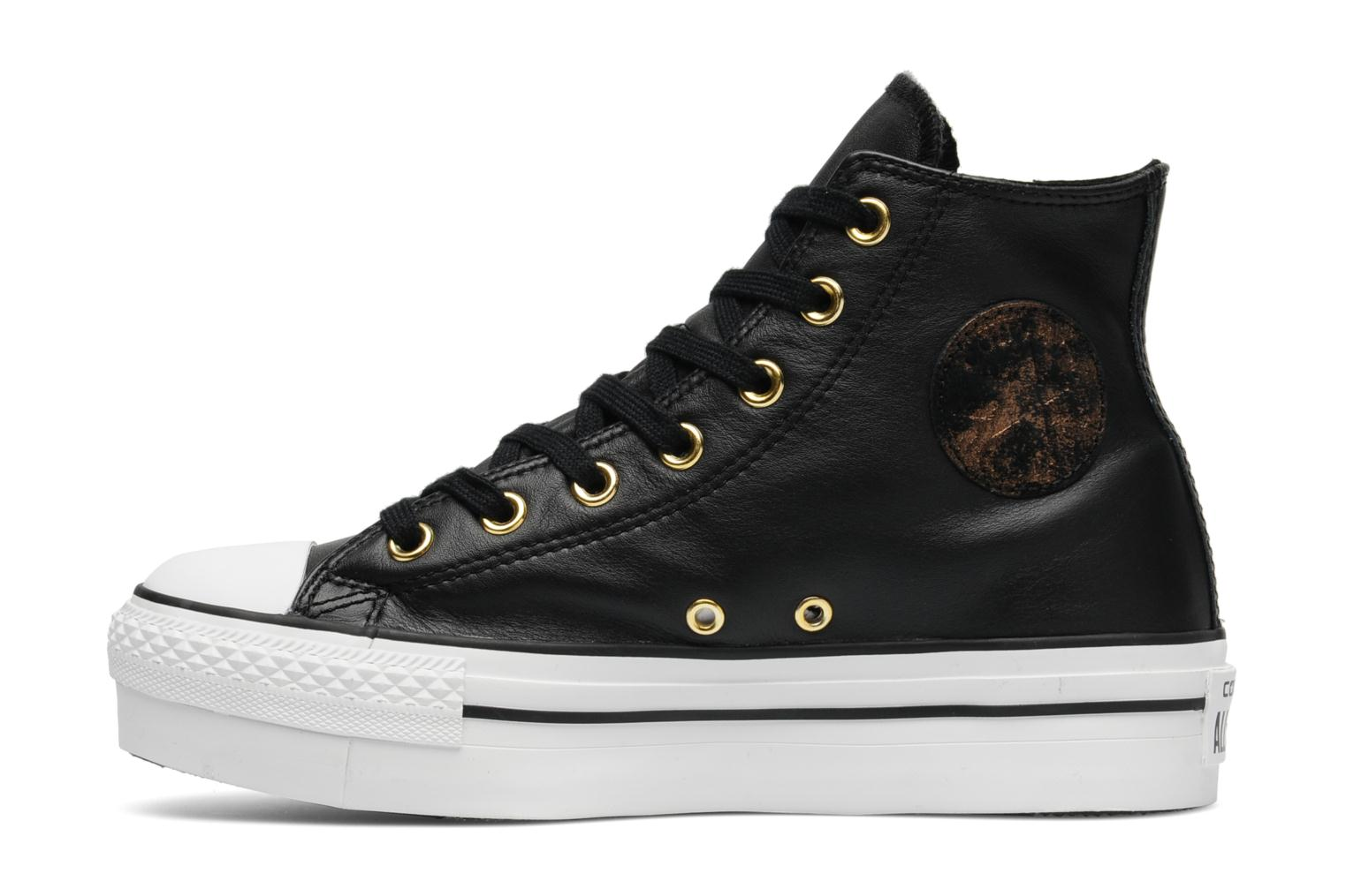 Trainers Converse Chuck Taylor All Star Fashion Leather Platform Hi W Black front view