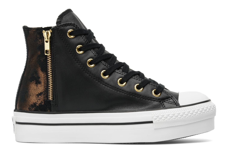 Trainers Converse Chuck Taylor All Star Fashion Leather Platform Hi W Black back view