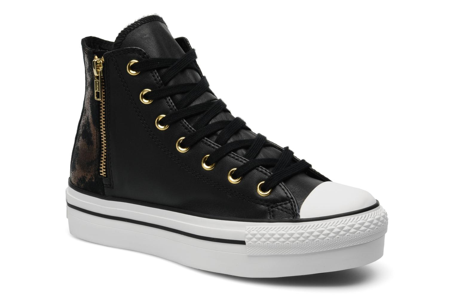 Trainers Converse Chuck Taylor All Star Fashion Leather Platform Hi W Black detailed view/ Pair view