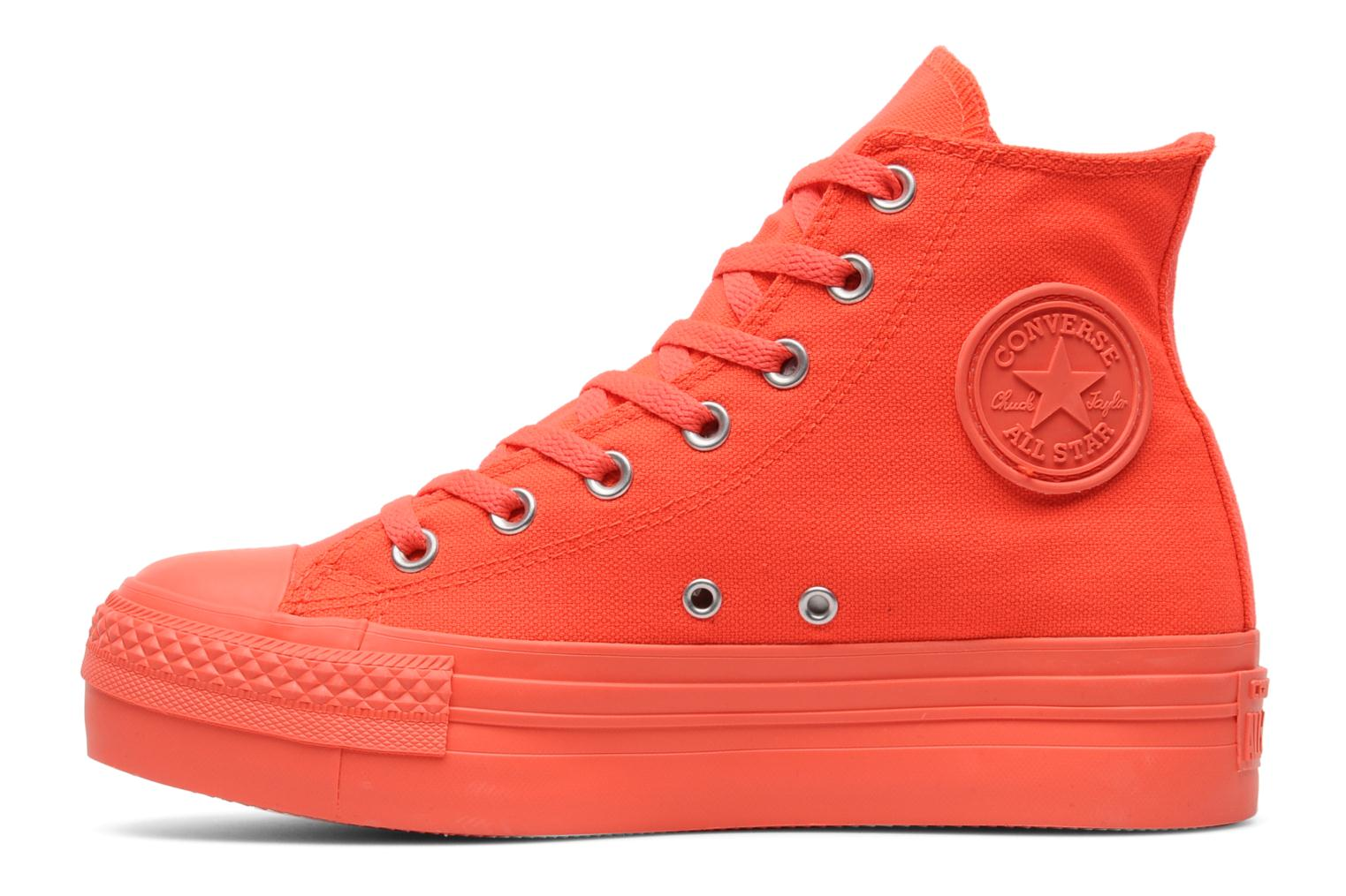 Trainers Converse Chuck Taylor All Star Mono Canvas Platform Hi W Orange front view