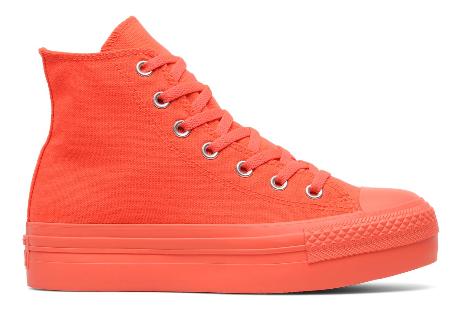 Trainers Converse Chuck Taylor All Star Mono Canvas Platform Hi W Orange back view