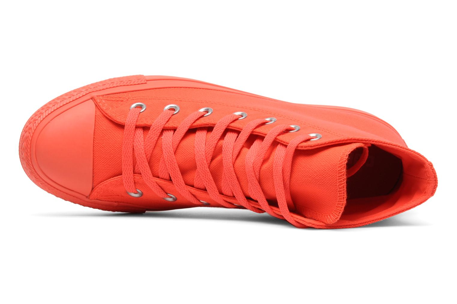 Trainers Converse Chuck Taylor All Star Mono Canvas Platform Hi W Orange view from the left