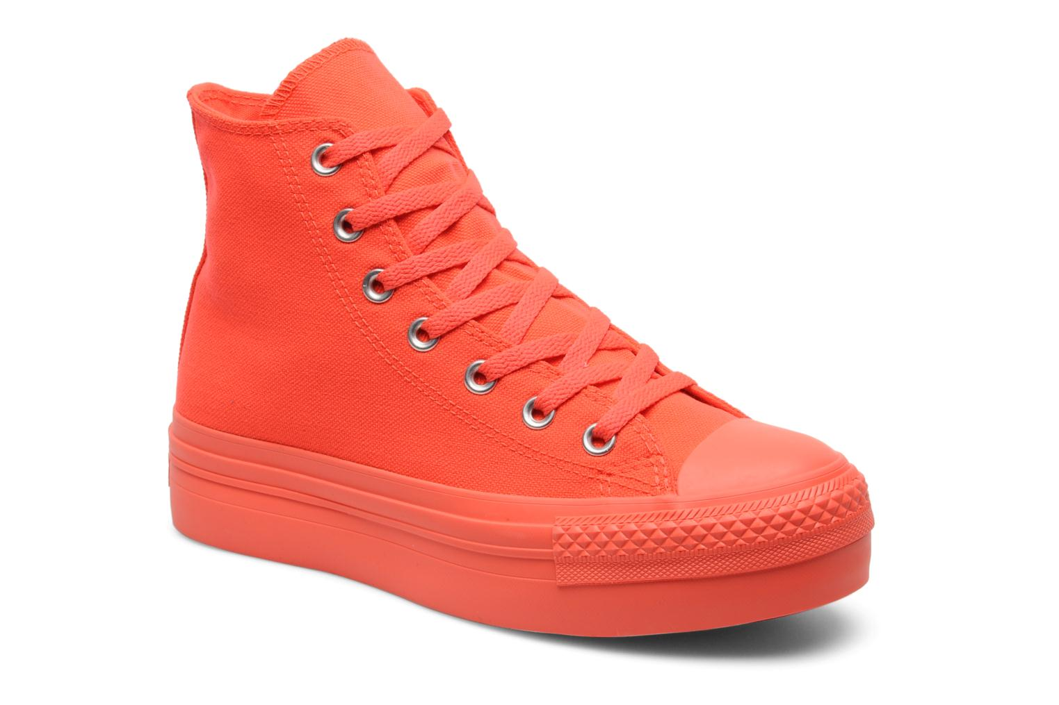Trainers Converse Chuck Taylor All Star Mono Canvas Platform Hi W Orange detailed view/ Pair view