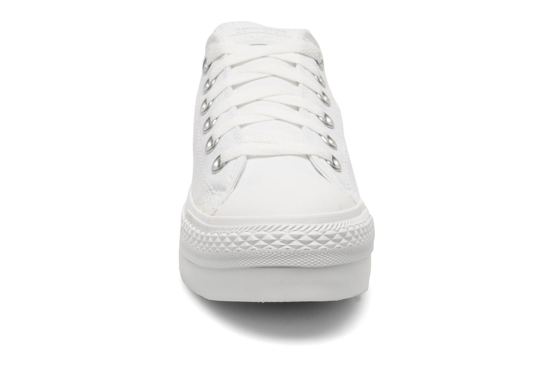 Sneakers Converse Chuck Taylor All Star Mono Canvas Platform Ox W Bianco modello indossato