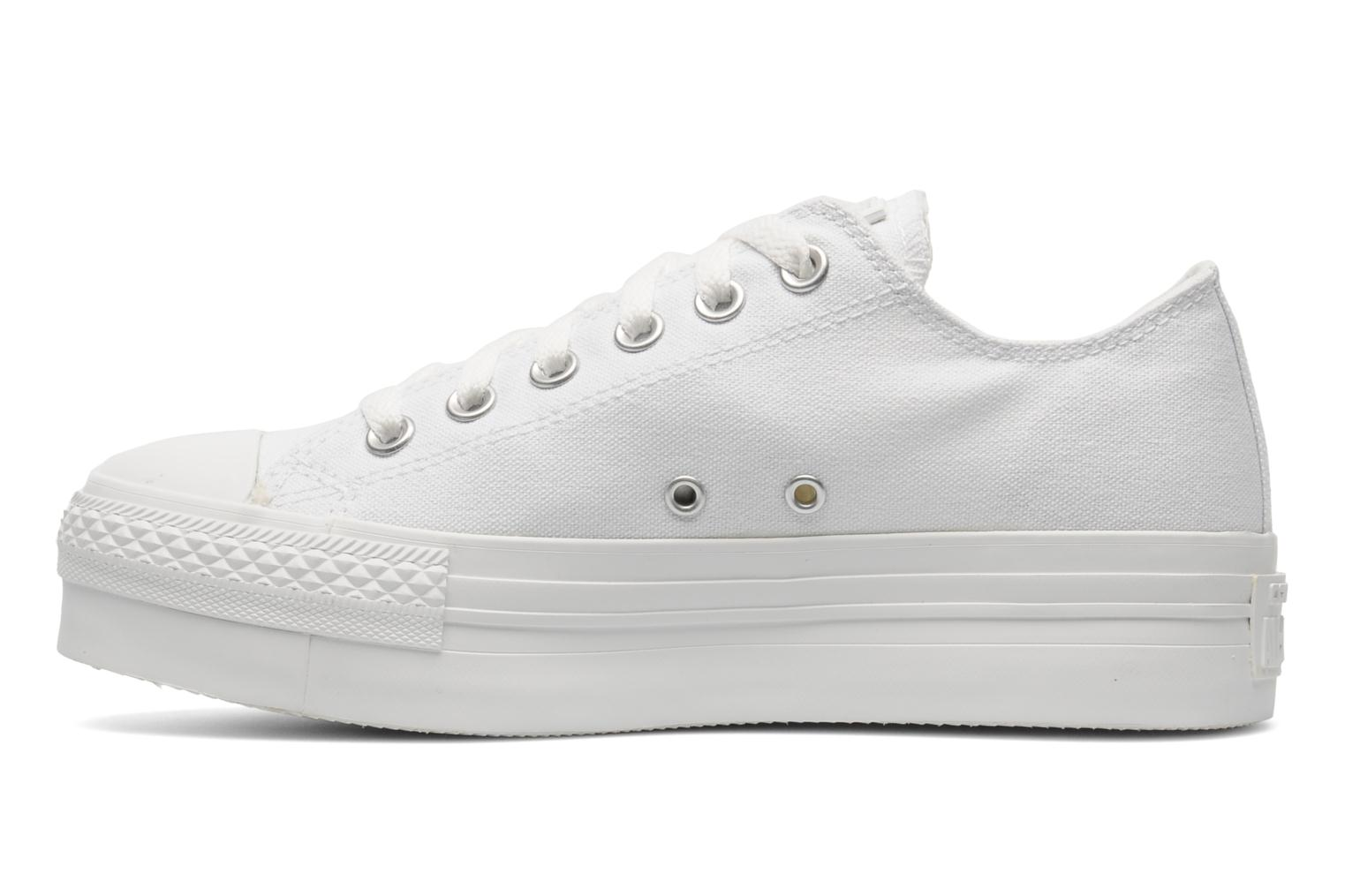 Sneakers Converse Chuck Taylor All Star Mono Canvas Platform Ox W Bianco immagine frontale