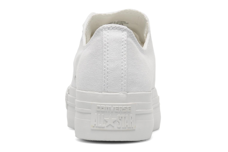 Sneakers Converse Chuck Taylor All Star Mono Canvas Platform Ox W Bianco immagine destra