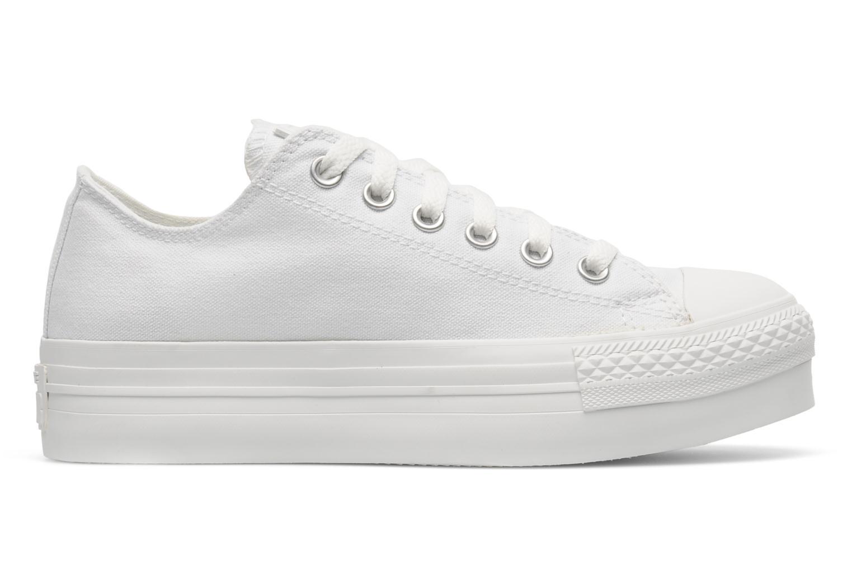 Sneakers Converse Chuck Taylor All Star Mono Canvas Platform Ox W Bianco immagine posteriore