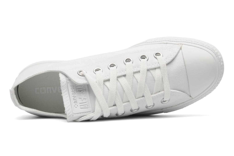 Sneakers Converse Chuck Taylor All Star Mono Canvas Platform Ox W Bianco immagine sinistra
