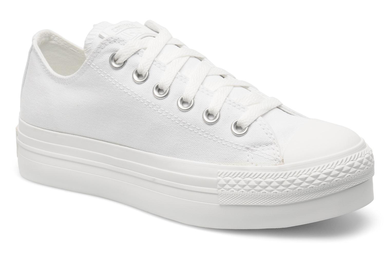 Sneakers Converse Chuck Taylor All Star Mono Canvas Platform Ox W Bianco vedi dettaglio/paio