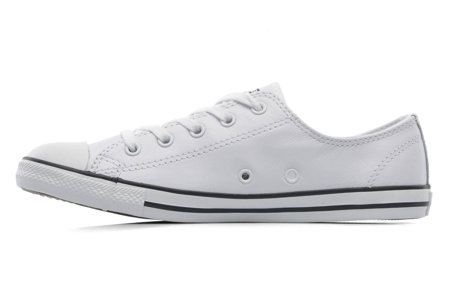 Sneakers Converse All Star Dainty Cuir Ox W Bianco immagine frontale