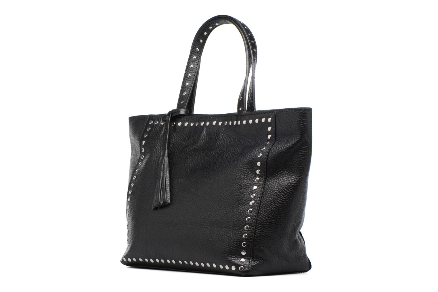 Handbags Loxwood CABAS PARISIEN M Clouté Cuir grainé Black model view