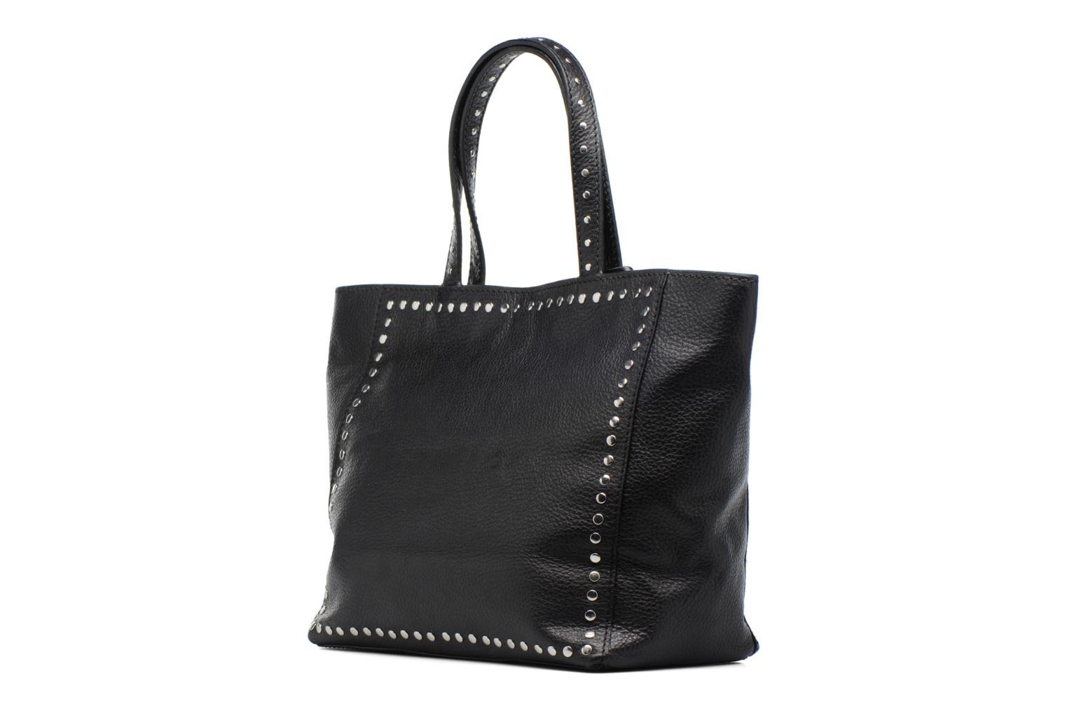 Handbags Loxwood CABAS PARISIEN M Clouté Cuir grainé Black view from the right