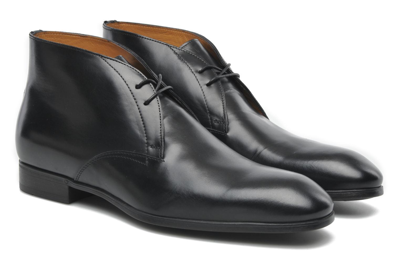Chaussures à lacets Santoni Simon 11163 Noir vue 3/4