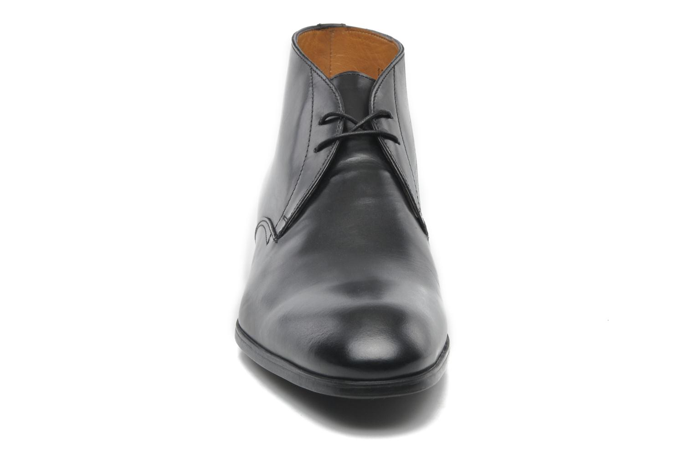 Snörade skor Santoni Simon 11163 Svart bild av skorna på