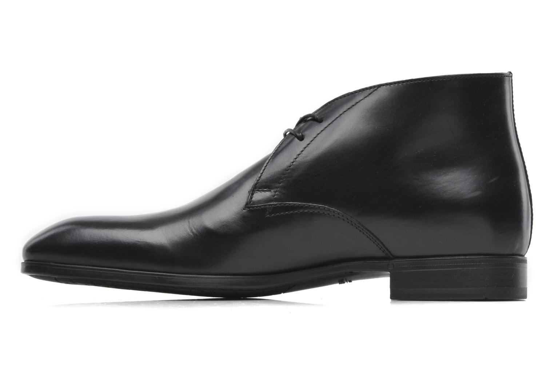Snörade skor Santoni Simon 11163 Svart bild från framsidan