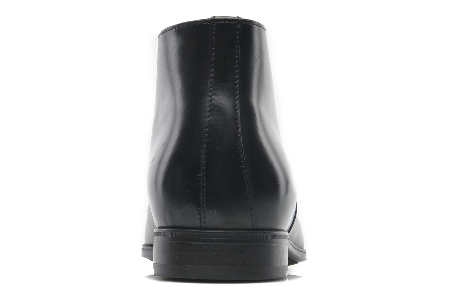 Lace-up shoes Santoni Simon 11163 Black view from the right