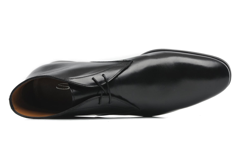 Chaussures à lacets Santoni Simon 11163 Noir vue gauche