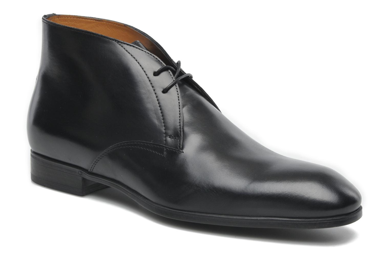 Snörade skor Santoni Simon 11163 Svart detaljerad bild på paret