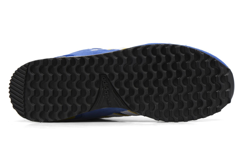Baskets Adidas Originals Zx 750 Bleu vue haut