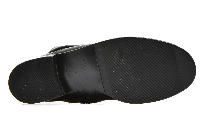 Bottines et boots Gabor Genua Noir vue haut