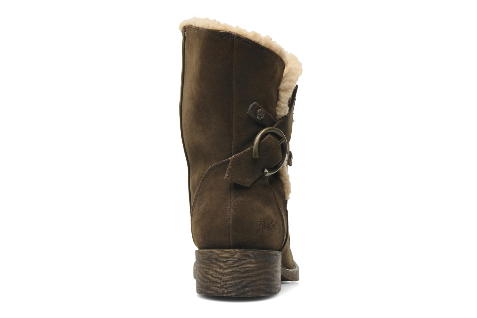 Ankle boots Blowfish Kika Brown view from the right