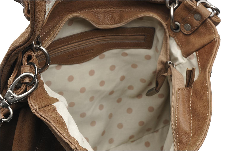 Handtassen Sabrina Gabrielle Bruin achterkant