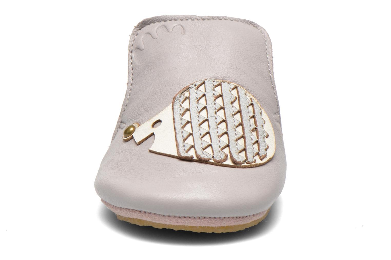 Chaussons Easy Peasy Blublu Patin Hérisson Gris vue portées chaussures