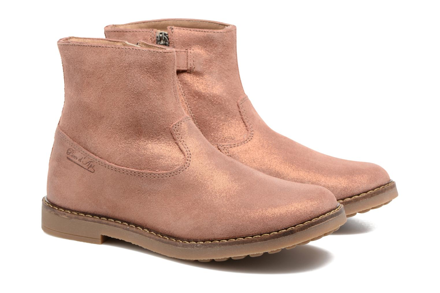 Ankle boots Pom d Api Trip Boots Brown 3/4 view