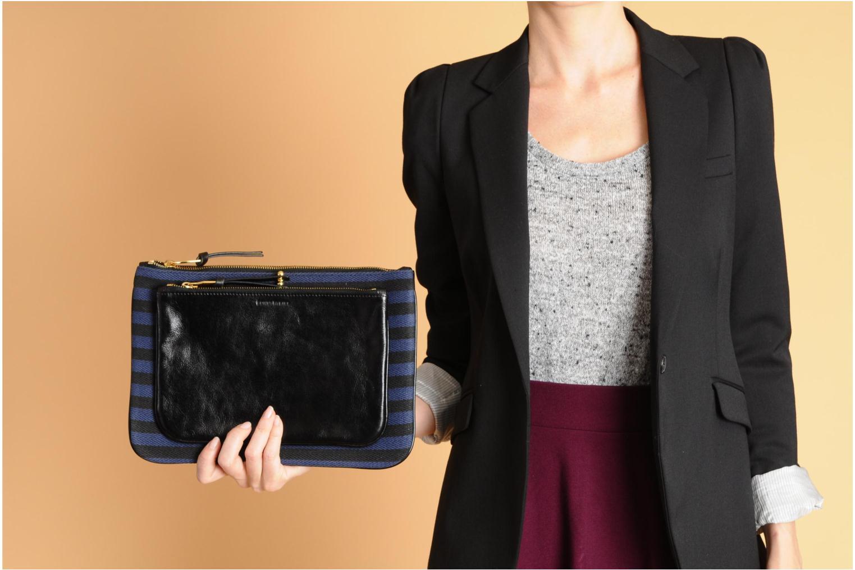Portemonnaies & Clutches Sonia Rykiel DAUPHINE Maxi pochette blau ansicht von oben