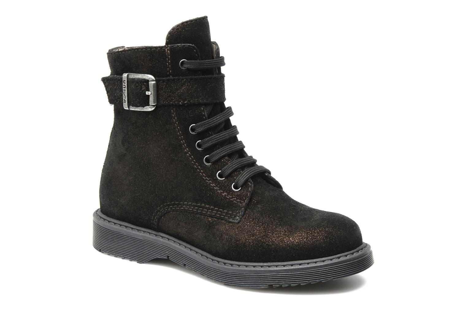 Ankle boots Unisa Meras Black detailed view/ Pair view