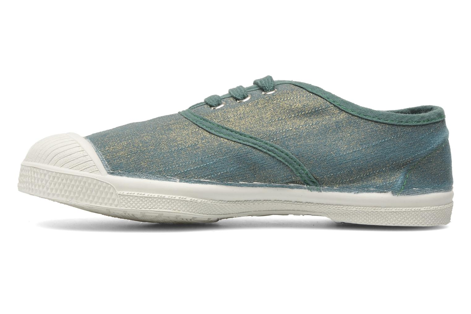 Baskets Bensimon Tennis Glossy E Vert vue face