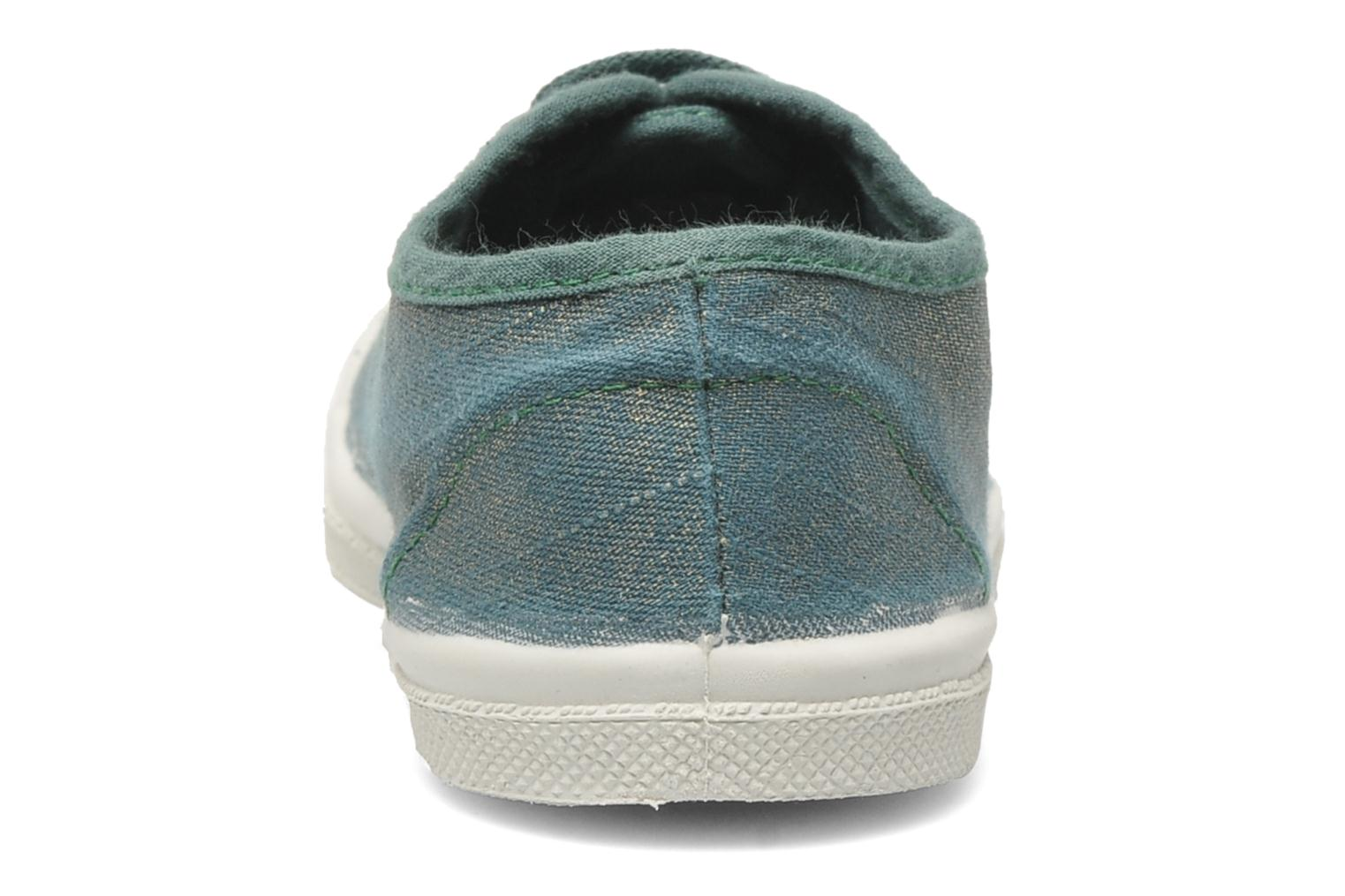 Trainers Bensimon Tennis Glossy E Green view from the right