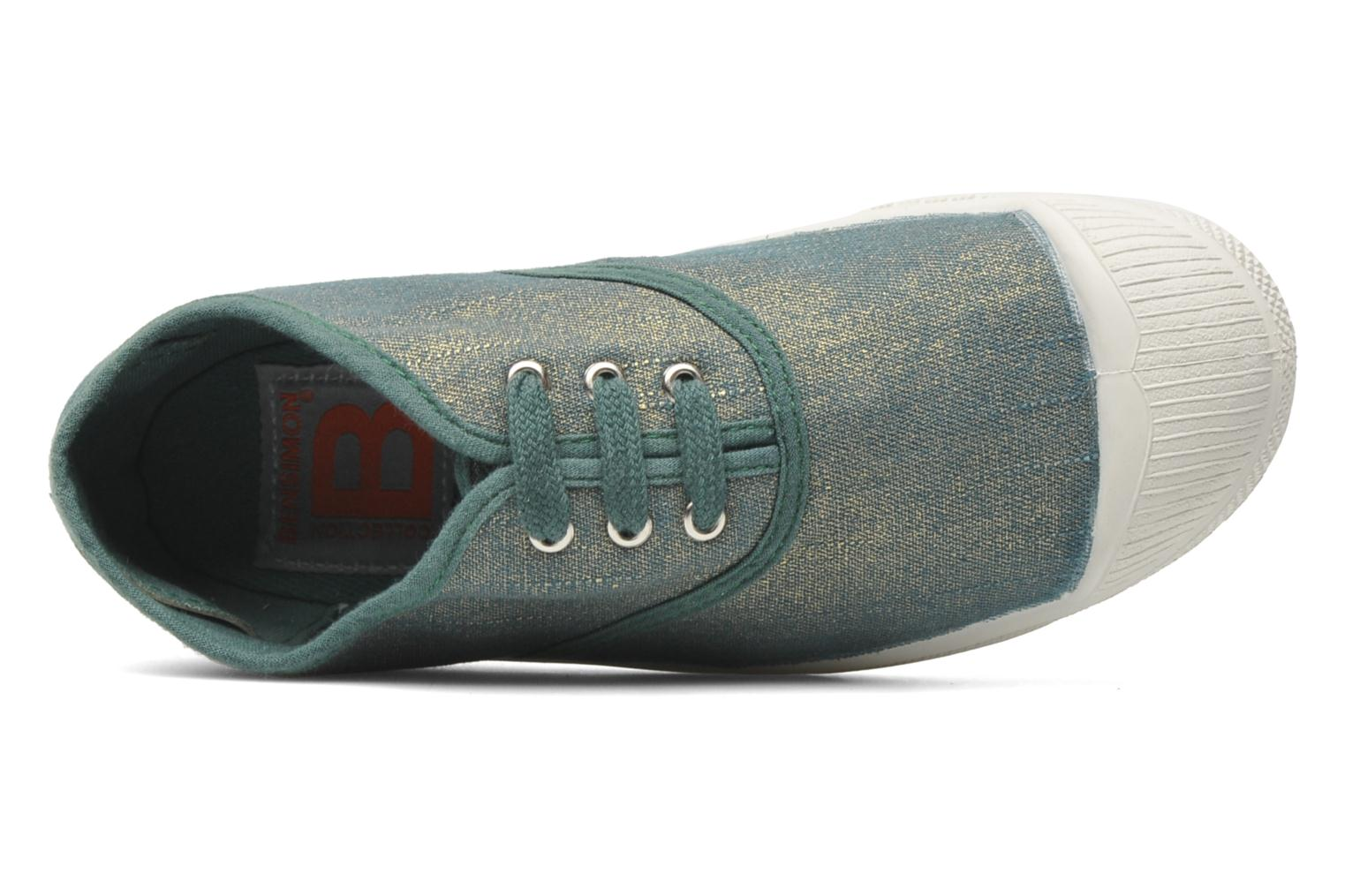 Trainers Bensimon Tennis Glossy E Green view from the left