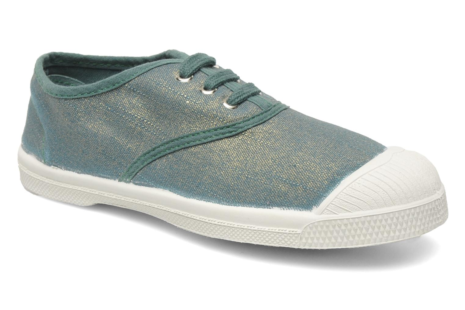 Trainers Bensimon Tennis Glossy E Green detailed view/ Pair view