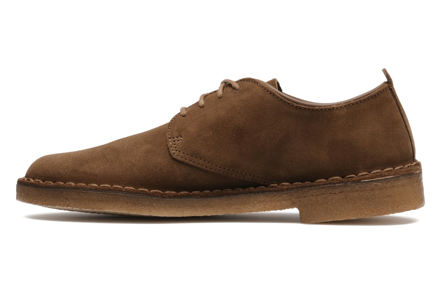 Lace-up shoes Clarks Originals Desert London Brown front view