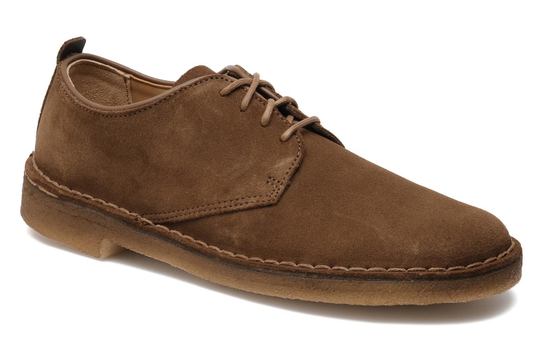 Snøresko Clarks Originals Desert London Brun detaljeret billede af skoene