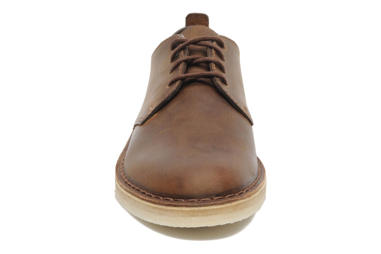 Lace-up shoes Clarks Originals Desert London Brown model view