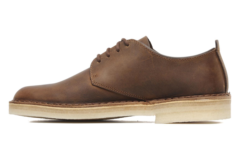 Lace-up shoes Clarks Originals Desert London Brown front view