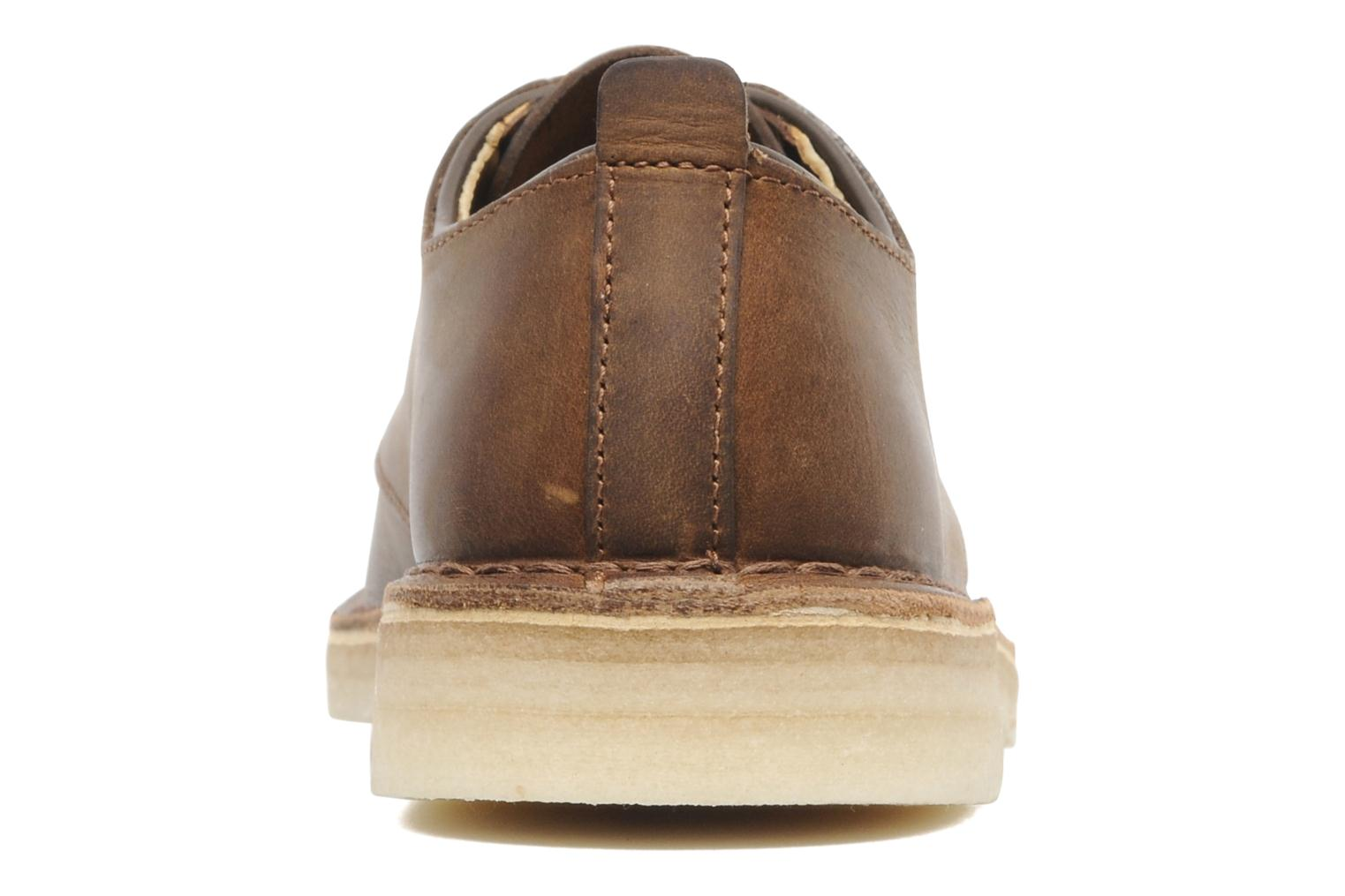 Lace-up shoes Clarks Originals Desert London Brown view from the right