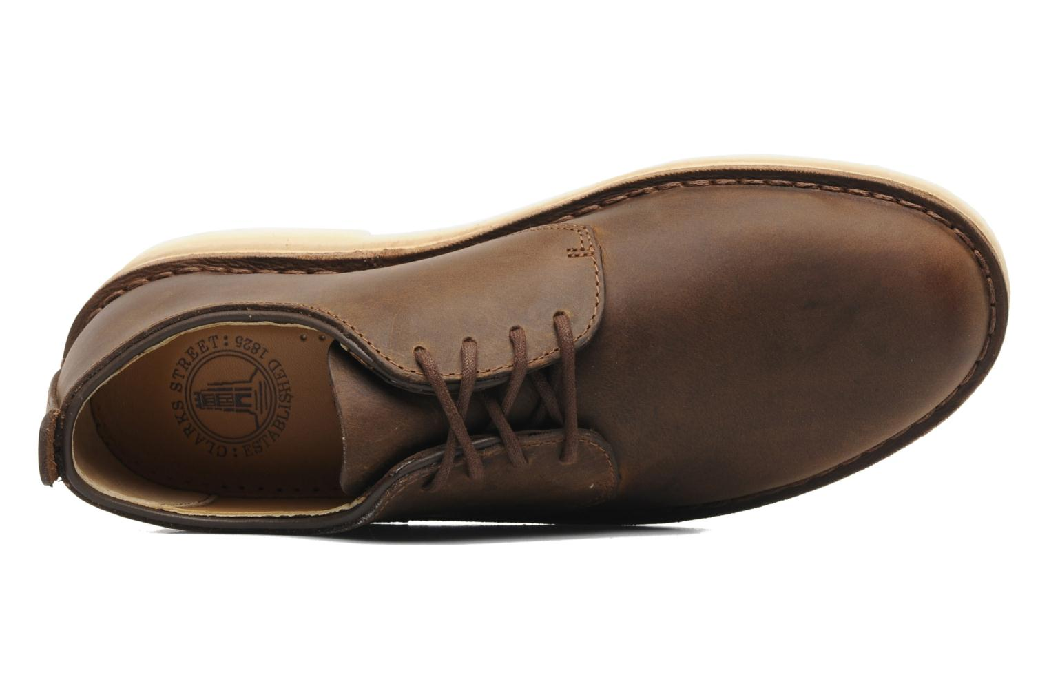 Lace-up shoes Clarks Originals Desert London Brown view from the left