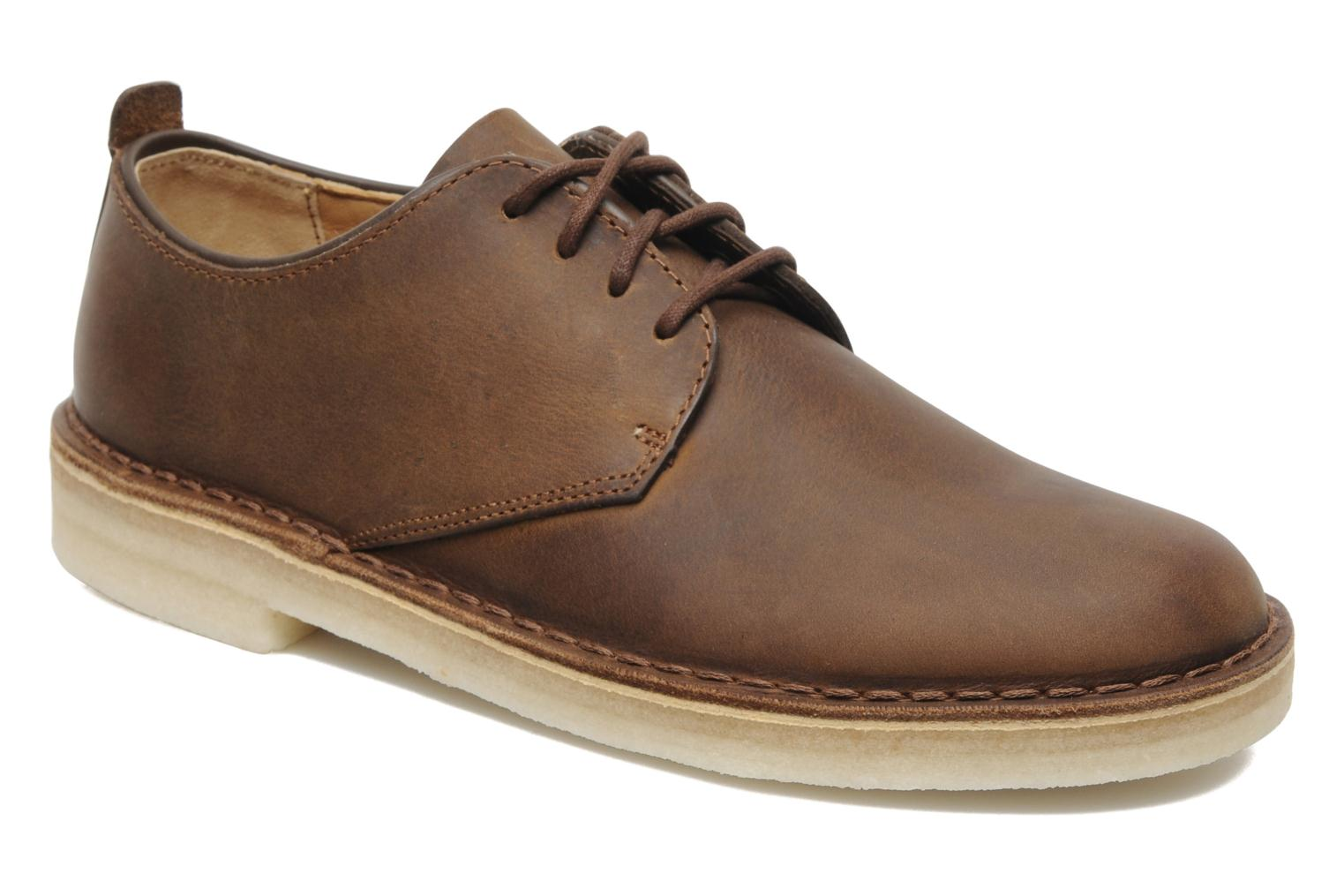 Veterschoenen Clarks Originals Desert London Bruin detail
