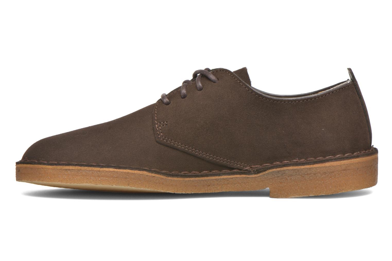 Snörade skor Clarks Originals Desert London Brun bild från framsidan