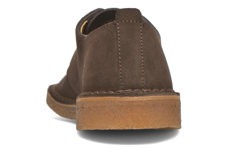 Zapatos con cordones Clarks Originals Desert London Marrón vista lateral derecha