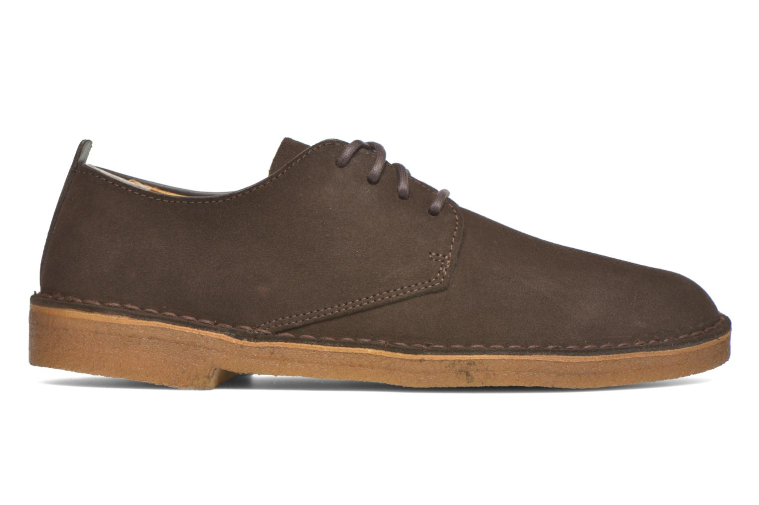 Lace-up shoes Clarks Originals Desert London Brown back view