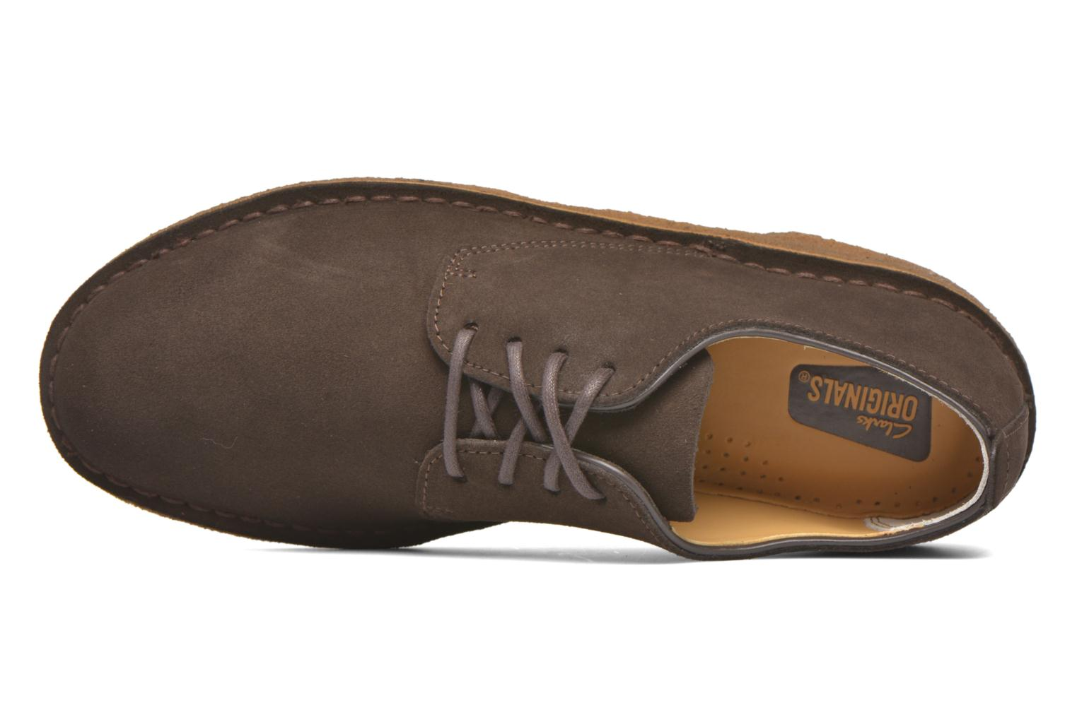 Veterschoenen Clarks Originals Desert London Bruin links