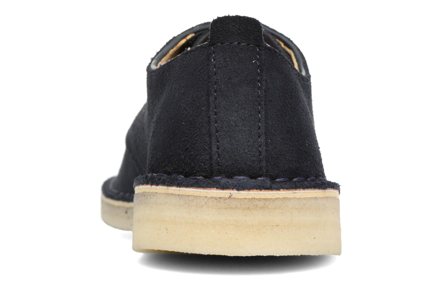 Zapatos con cordones Clarks Originals Desert London Azul vista lateral derecha