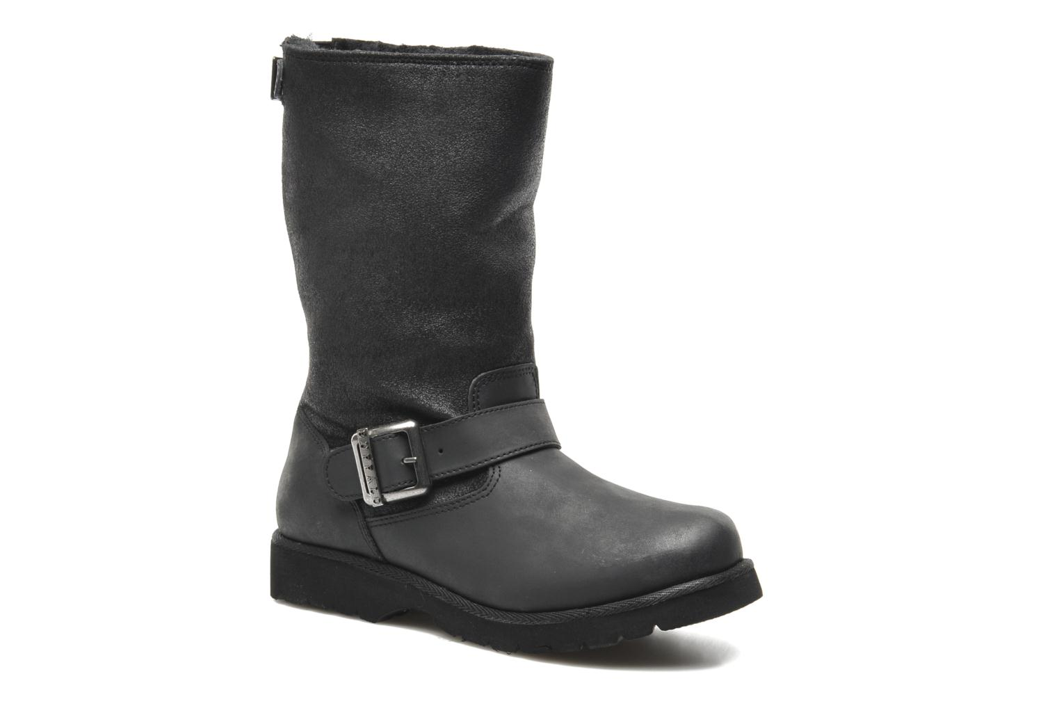 Ankle boots Buffalo Bimago Black detailed view/ Pair view