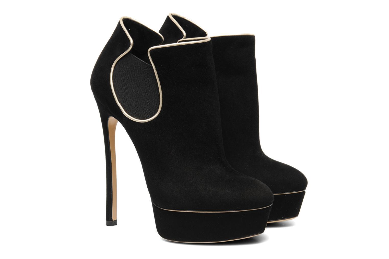 Bottines et boots Casadei Carlucci Noir vue 3/4
